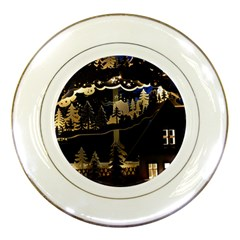 Christmas Advent Candle Arches Porcelain Plates
