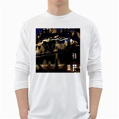 Christmas Advent Candle Arches White Long Sleeve T Shirts