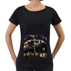 Christmas Advent Candle Arches Women s Loose Fit T Shirt (black)