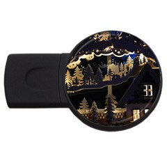 Christmas Advent Candle Arches Usb Flash Drive Round (4 Gb)
