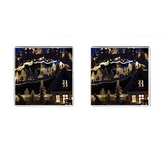 Christmas Advent Candle Arches Cufflinks (square)
