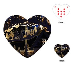 Christmas Advent Candle Arches Playing Cards (heart)