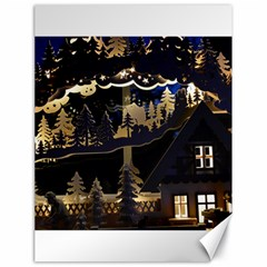 Christmas Advent Candle Arches Canvas 18  X 24