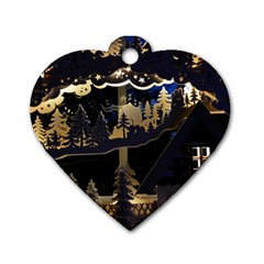 Christmas Advent Candle Arches Dog Tag Heart (one Side)