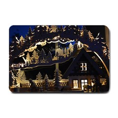 Christmas Advent Candle Arches Small Doormat