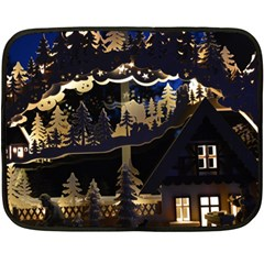 Christmas Advent Candle Arches Double Sided Fleece Blanket (mini)