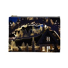 Christmas Advent Candle Arches Cosmetic Bag (large)