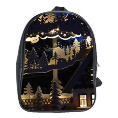 Christmas Advent Candle Arches School Bags(large)