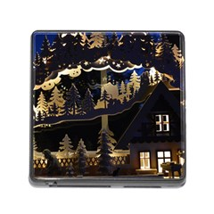Christmas Advent Candle Arches Memory Card Reader (square)