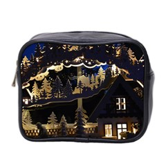 Christmas Advent Candle Arches Mini Toiletries Bag 2 Side