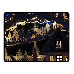Christmas Advent Candle Arches Fleece Blanket (small)
