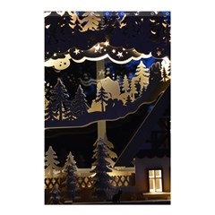 Christmas Advent Candle Arches Shower Curtain 48  x 72  (Small)
