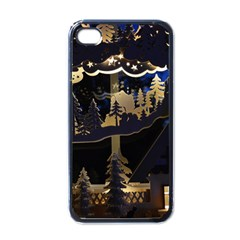 Christmas Advent Candle Arches Apple Iphone 4 Case (black)