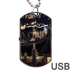 Christmas Advent Candle Arches Dog Tag USB Flash (One Side)