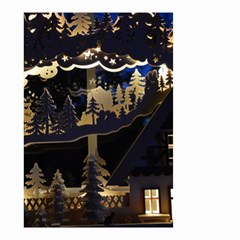 Christmas Advent Candle Arches Small Garden Flag (two Sides)