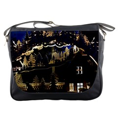 Christmas Advent Candle Arches Messenger Bags