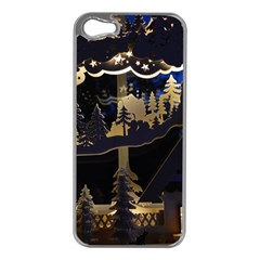 Christmas Advent Candle Arches Apple Iphone 5 Case (silver)