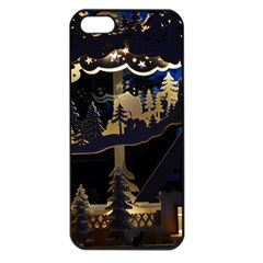Christmas Advent Candle Arches Apple Iphone 5 Seamless Case (black)