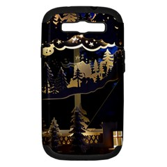 Christmas Advent Candle Arches Samsung Galaxy S Iii Hardshell Case (pc+silicone)