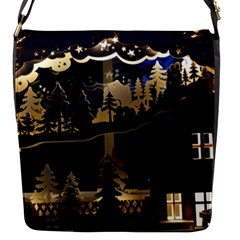 Christmas Advent Candle Arches Flap Messenger Bag (s)