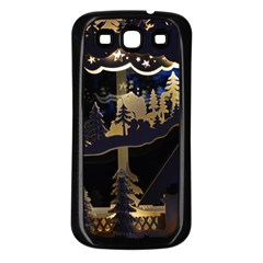 Christmas Advent Candle Arches Samsung Galaxy S3 Back Case (black)