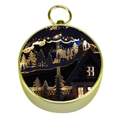 Christmas Advent Candle Arches Gold Compasses