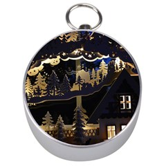 Christmas Advent Candle Arches Silver Compasses