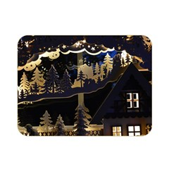 Christmas Advent Candle Arches Double Sided Flano Blanket (mini)