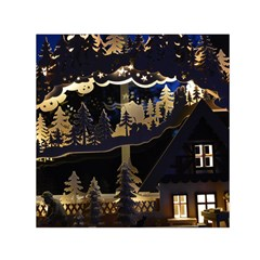 Christmas Advent Candle Arches Small Satin Scarf (square)