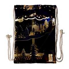 Christmas Advent Candle Arches Drawstring Bag (large)