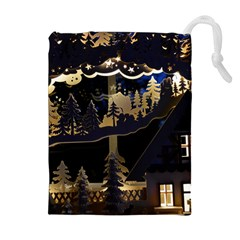 Christmas Advent Candle Arches Drawstring Pouches (extra Large)