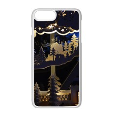 Christmas Advent Candle Arches Apple Iphone 7 Plus White Seamless Case