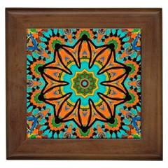 Color Abstract Pattern Structure Framed Tiles