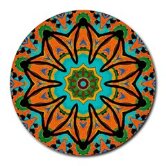 Color Abstract Pattern Structure Round Mousepads