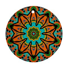 Color Abstract Pattern Structure Ornament (round)