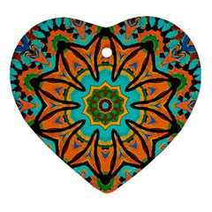 Color Abstract Pattern Structure Ornament (heart)