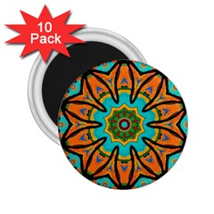 Color Abstract Pattern Structure 2 25  Magnets (10 Pack)