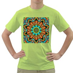 Color Abstract Pattern Structure Green T Shirt