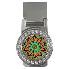 Color Abstract Pattern Structure Money Clips (cz)
