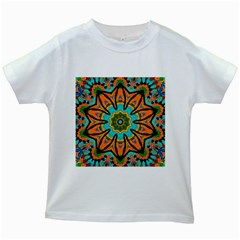 Color Abstract Pattern Structure Kids White T Shirts