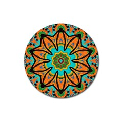 Color Abstract Pattern Structure Magnet 3  (round)
