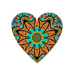 Color Abstract Pattern Structure Heart Magnet