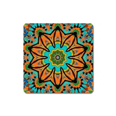 Color Abstract Pattern Structure Square Magnet