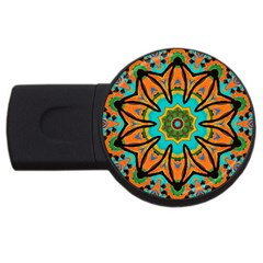 Color Abstract Pattern Structure USB Flash Drive Round (1 GB)