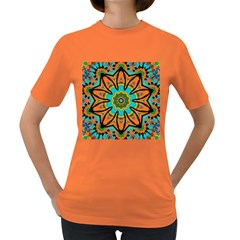 Color Abstract Pattern Structure Women s Dark T Shirt