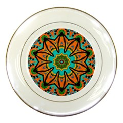 Color Abstract Pattern Structure Porcelain Plates