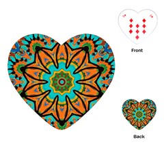 Color Abstract Pattern Structure Playing Cards (Heart)