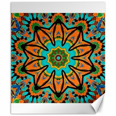 Color Abstract Pattern Structure Canvas 8  X 10