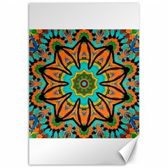 Color Abstract Pattern Structure Canvas 12  X 18