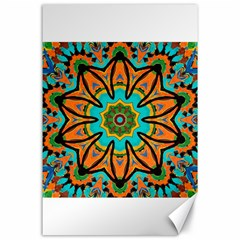 Color Abstract Pattern Structure Canvas 24  X 36